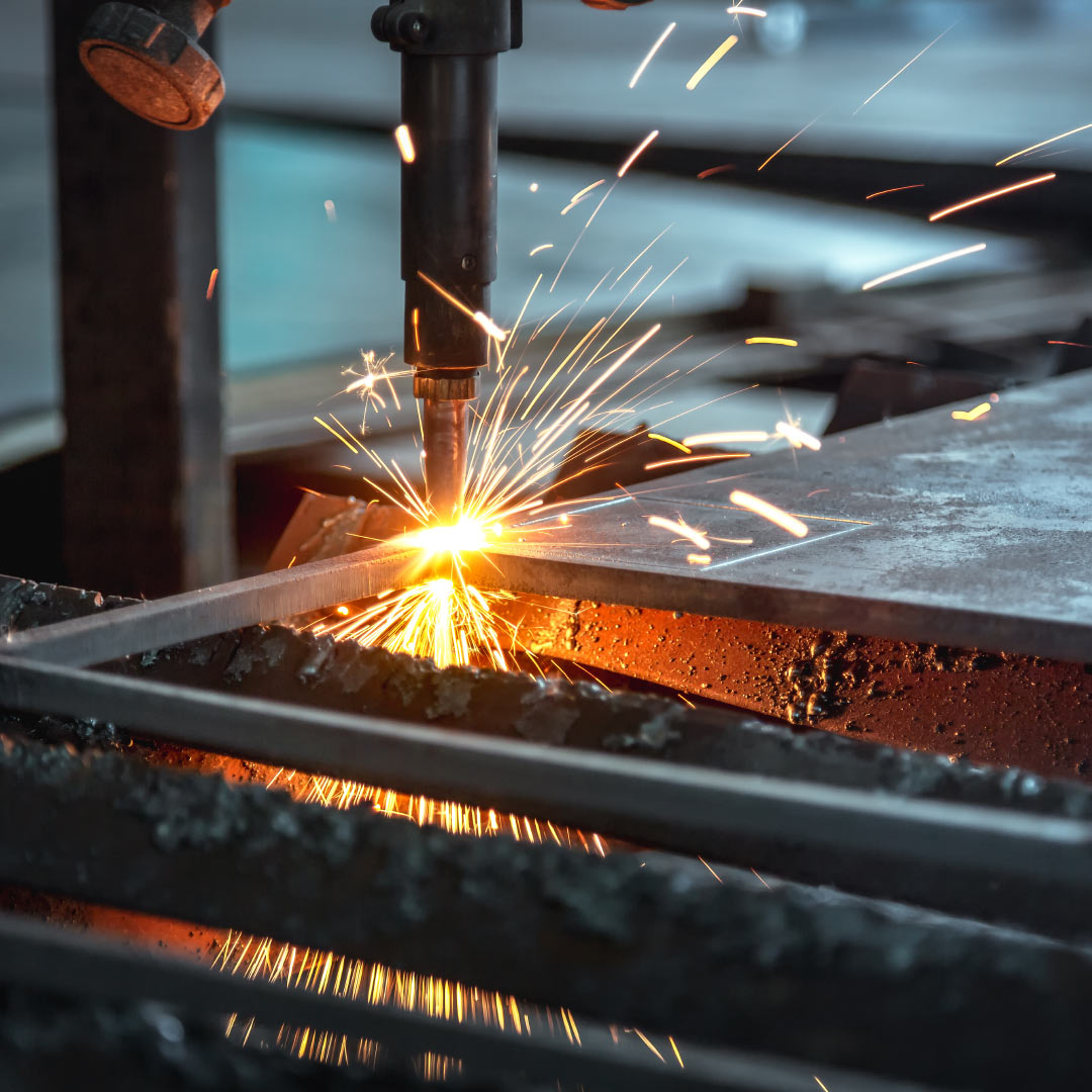 flame cutting steel